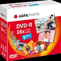 DVD-R 4,7 GB (5er JewelCase) Agfa Photo 410005
